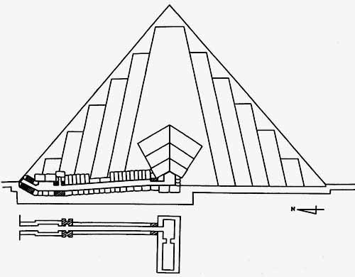 Схема пирамиды Сахура (по